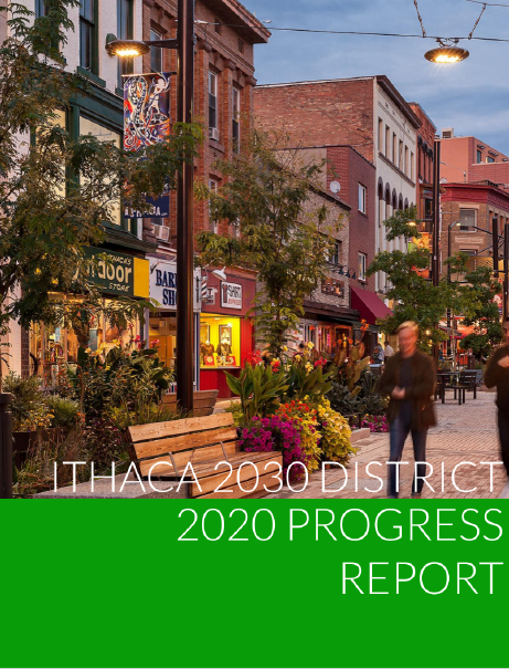 Ithaca 2030 District Annual Report 2020 Cover