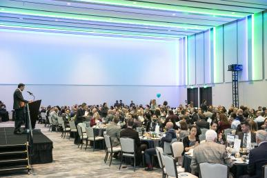 2019 Vision Awards, photo of the banquet room