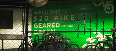 Image of bike parking cage