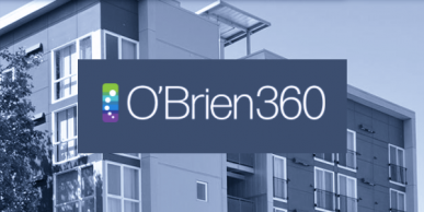 O'Brien360 logo on building background