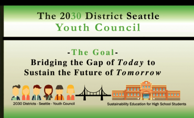 """Youth Council slide: """"Bridging the gap of today to sustain the future tomorrow"""""""
