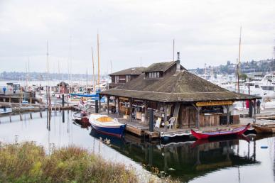 May 2021 webinar graphic: Center for Wooden Boats, exterior