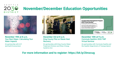 Seattle end of year education opportunities