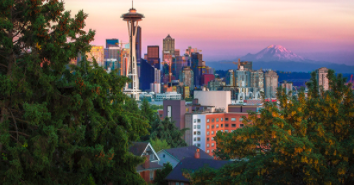 Picture of Seattle skyline for energy code update article