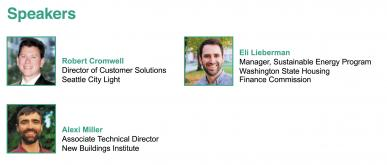 Graphic for September education forum speakers in Seattle