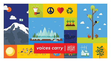 EarthDayNW2020, Voices Carry graphic