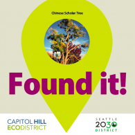 """Found it!"" graphic from S2030D's stormwater scavenger hunt"